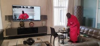 WATCH: How Dele Momodu staged virtual party amid COVID-19