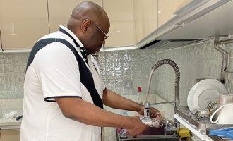 Dele Momodu cooks to promote RMD's gender equality challenge