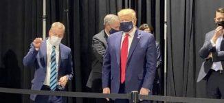 Trump finally wears face mask — but not in public