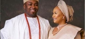 'Thanks for adding colour to my world' — Elegushi celebrates first wedding anniversary with second wife