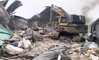 Rivers demolishes two hotels for 'flouting' lockdown directive