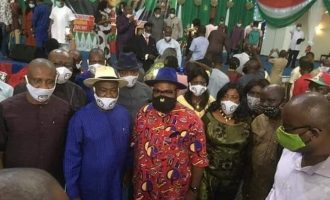 PHOTOS: Social distancing rule breached at Rivers PDP inauguration