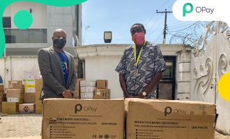 OPay supports Lagos state #MaskUpLagos initiative with donation of facemasks