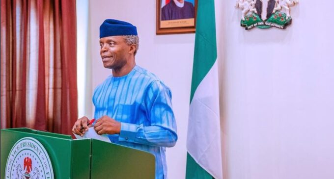 Osinbajo: Projections show 39.4m people may be unemployed by end of 2020