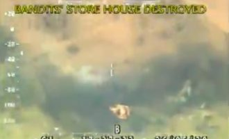 VIDEO: Bandits' hideout destroyed by military air strikes in Zamfara