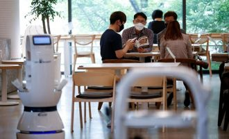 COVID-19: S'Korean cafe hires robots to serve coffee amid social distancing