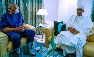 PHOTOS: Buhari plays host to TY Danjuma — after years of 'cold war'