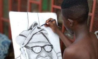 Akeredolu searches for young boy who drew his portrait