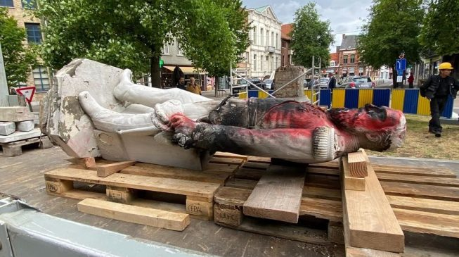 Belgium's King Leopold II Statue Brought Down Following Black Lives Matter Protests