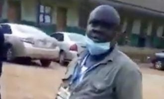 Ogun suspends 'lockdown officials' who assaulted woman in viral video