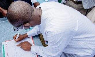 PHOTOS: When Akeredolu's deputy picked his PDP membership card