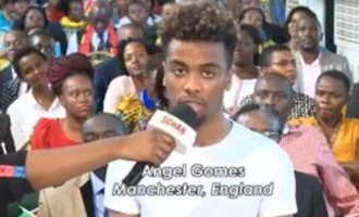 TRENDING VIDEO: How Man United's Angel Gomes visited TB Joshua for healing
