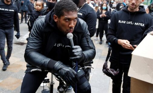 'Racism is a pandemic' — Anthony Joshua addresses George Floyd protesters in Watford