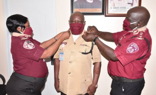FRSC spokesman decorated with new rank