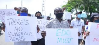 PHOTOS: Groups call for end to godfatherism in Edo