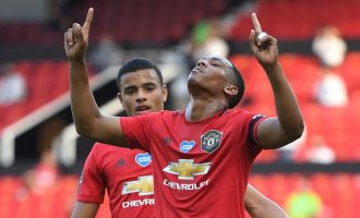 Martial hat-trick seals Man United win as Liverpool edge closer to EPL title