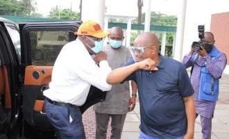 PHOTOS: Wike hosts Obaseki in Rivers amid PDP defection rumours