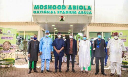 PHOTOS: Nigeria spoke as one on June 12, says Kola Abiola at rebranding of MKO stadium