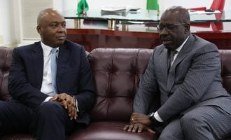 Saraki welcomes Obaseki to PDP, says Oshiomhole is about to meet his waterloo