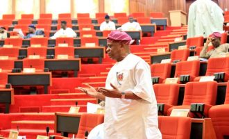Orji Kalu attends first senate session after leaving prison