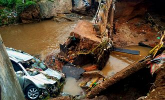 PHOTOS: 'Four killed' as rain destroys roads in Kwara, Enugu