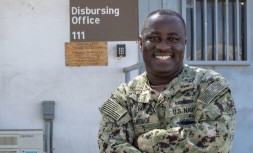 CLOSE-UP: Agunbiade, Nigerian-born US naval officer honoured for '100% accountability'