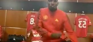 VIDEO: Pogba shows off dance moves as Ighalo plays Wizkid's Soco in changing room