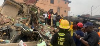 One killed, six rescued as three-story building collapses in Lagos