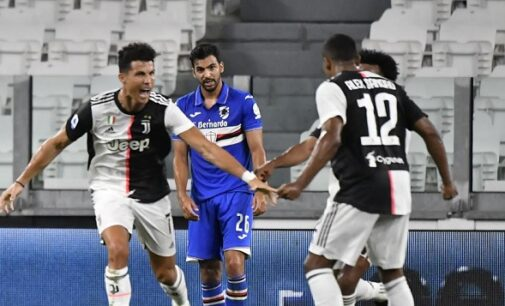 Ronaldo on 31 goals as Juventus clinch ninth consecutive Serie A title