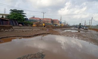 PHOTOS: Journalist launches 30-day protest over state of Ota road