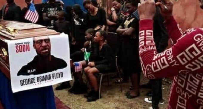 EXTRA: George Floyd 'reburied' in his 'Imo ancestral home' (photos)