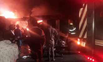 Shops destroyed as fire guts Ajao market in Lagos