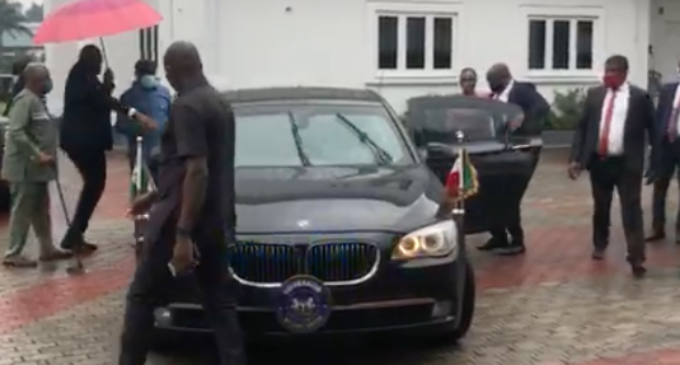 Wike storms ex-NDDC MD's residence, frees her from police siege