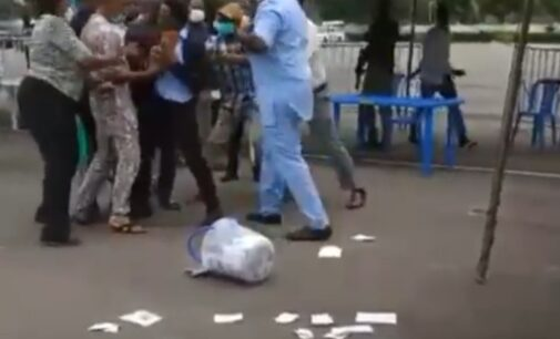 VIDEO: Ballot boxes destroyed as NMA election in Enugu turns violent