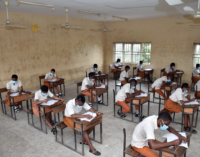 PHOTOS: Social distancing, face masks as students sit for WASSCE in Lagos