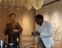 VIDEO: Otedola dazzles in dance session as wife marks 50th birthday