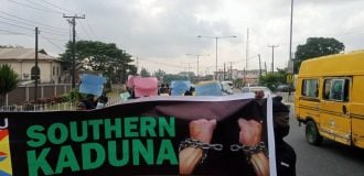 PHOTOS: Police disrupt protest against killings in Southern Kaduna