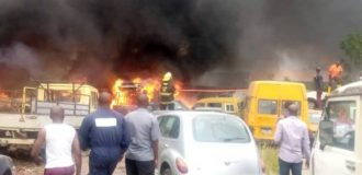 11 vehicles burnt as fire guts LASTMA office