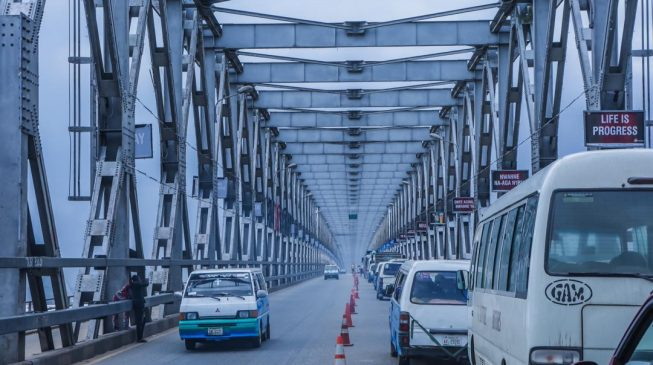 Commuters notice construction on the Niger Bridge
