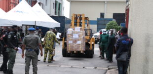 PHOTOS: Tight security as INEC distributes Edo electoral materials