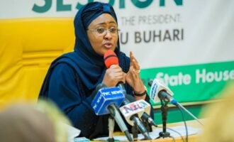EXTRA: COVID-19 is a sign that God is not happy with us, says Aisha Buhari