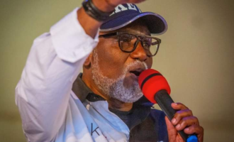 'We don't allow godfathers in Ondo' — Akeredolu tackles Wike