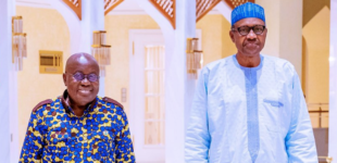 Buhari meets Akufo-Addo in Aso Rock amid protests by Nigerian traders in Ghana