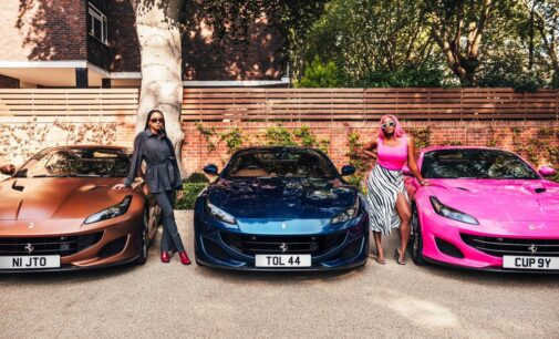 PHOTOS: Otedola buys customised Ferraris for his 3 daughters