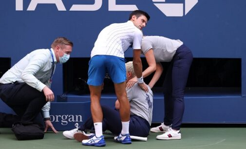 Djokovic disqualified from US Open after accidental hit of line judge