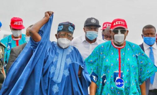 PHOTOS: Tinubu, Akande in Ondo for Akeredolu's campaign