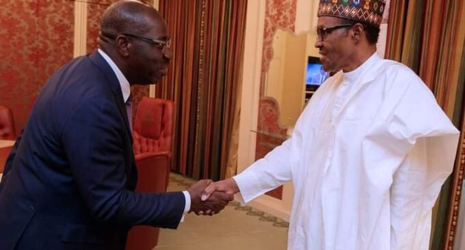 Buhari congratulates Obaseki, says he's committed to credible elections