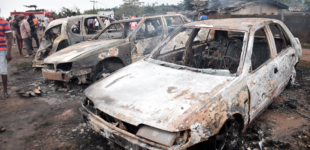 PHOTOS: The cars, buildings destroyed by Lagos gas explosion
