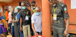 JUST IN: Obaseki scores zero at Oshiomhole's polling unit