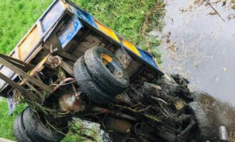 No confirmed casualty as truck plunges into river in Lagos